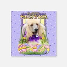 "EasterEggCookiesPoodleChamp Square Sticker 3"" x 3"""
