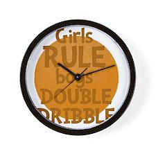 GirlsRule Wall Clock