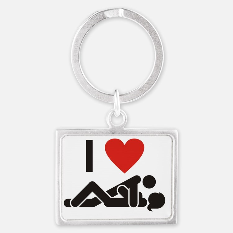 I Love Sex Landscape Keychain