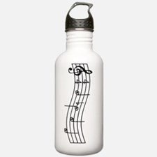 Rues Whistle Round Bla Water Bottle