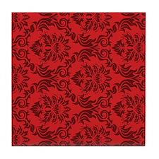 Red Damask Tile Coaster