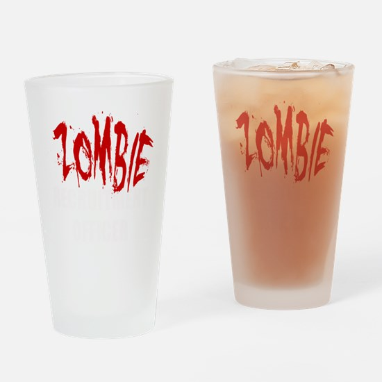 ZOMBIE RECRUITMENT OFFICER Drinking Glass