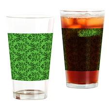 Green Damask Drinking Glass