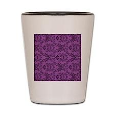 Purple Damask Shot Glass