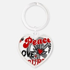 D Peace Love Cure 2 Diabetes Heart Keychain