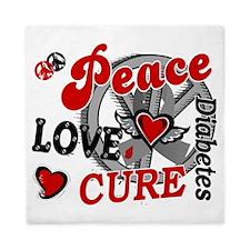 D Peace Love Cure 2 Diabetes Queen Duvet
