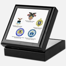 Service Academy Logo Keepsake Box