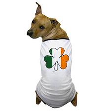 Shamrock Irish Flag Dog T-Shirt