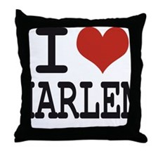 I love Harlem Throw Pillow