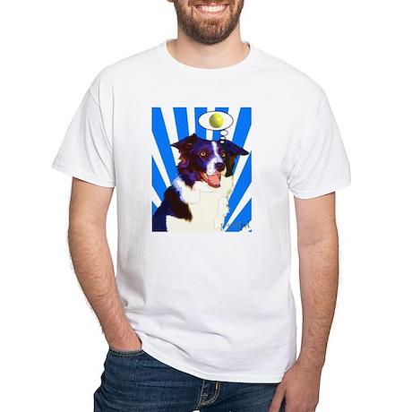 Border Collie White T-Shirt