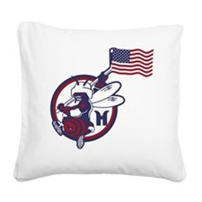 Hornet Independence2 Square Canvas Pillow