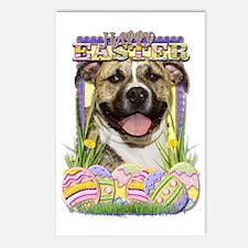 EasterEggCookiesPitbullTi Postcards (Package of 8)