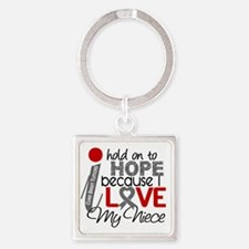 D Hope For My Niece Brain Tumor Square Keychain