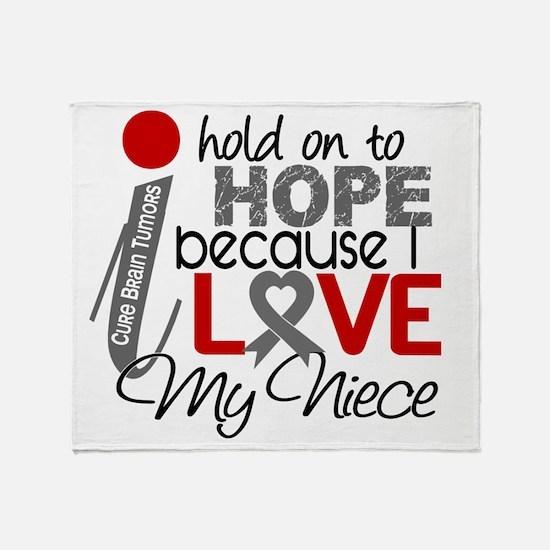 D Hope For My Niece Brain Tumor Throw Blanket