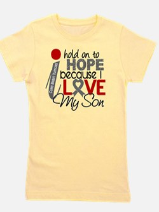 D Hope For My Son Brain Tumor Girl's Tee