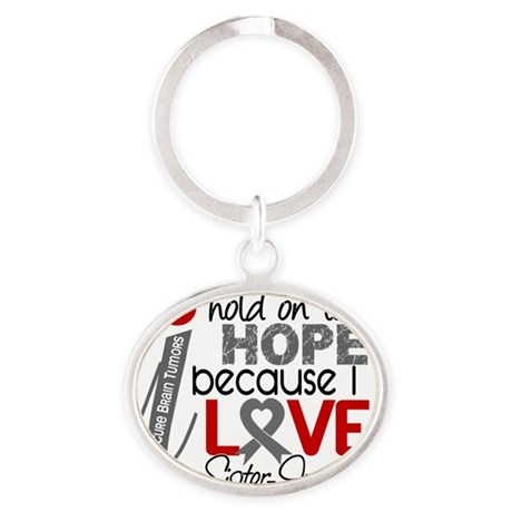 D Hope For My Sister-In-Law Brain Tu Oval Keychain