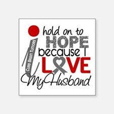 "D Hope For My Husband Brain Square Sticker 3"" x 3"""