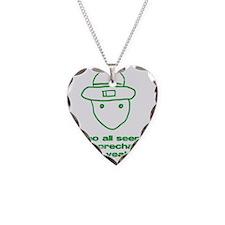 leprchaungrn Necklace Heart Charm