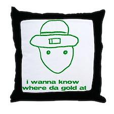 leprchaungoldatgrn Throw Pillow