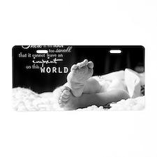 footprint Aluminum License Plate