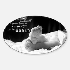 footprint Sticker (Oval)