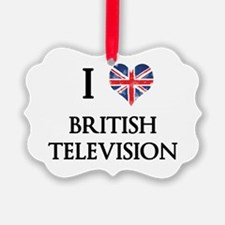 I Love British Television Ornament