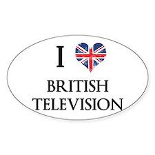 I Love British Television Decal