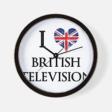 I Love British Television Wall Clock