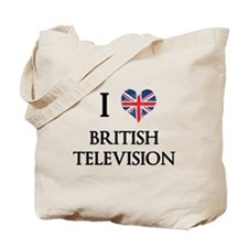 I Love British Television Tote Bag
