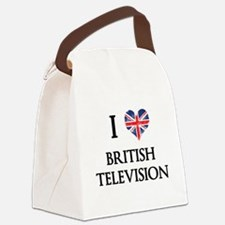 I Love British Television Canvas Lunch Bag