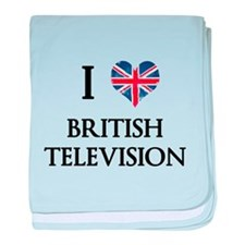 I Love British Television baby blanket