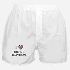 I Love British Television Boxer Shorts