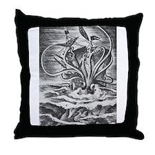 Giant Squid vs. Pirates b/w Throw Pillow