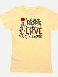 D Hope For My Daughter Brain Tumor Girl's Tee