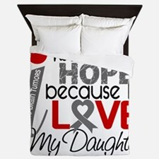D Hope For My Daughter Brain Tumor Queen Duvet