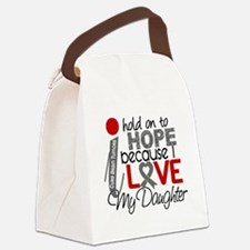 D Hope For My Daughter Brain Tumo Canvas Lunch Bag