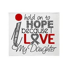 D Hope For My Daughter Brain Tumor Throw Blanket