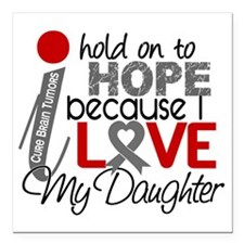 "D Hope For My Daughter B Square Car Magnet 3"" x 3"""