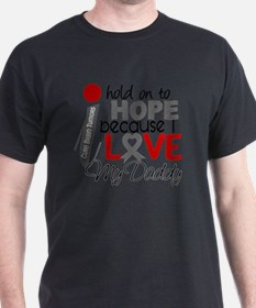 D Hope For My Daddy Brain Tumor T-Shirt