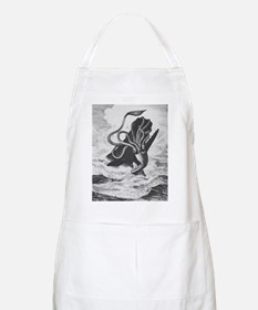 Giant Squid vs. Sperm Whale BBQ Apron