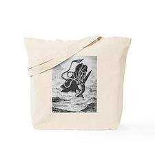 Giant Squid vs. Sperm Whale Tote Bag
