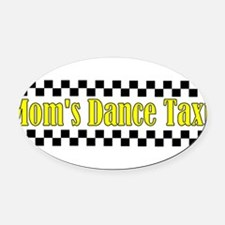 Cute Taxi Oval Car Magnet