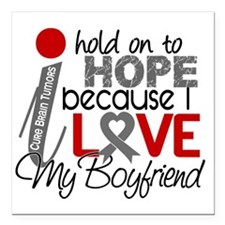 "D Hope For My Boyfriend  Square Car Magnet 3"" x 3"""