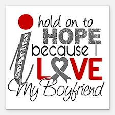 "D Hope For My Boyfriend  Square Car Magnet 3"" x 3"""