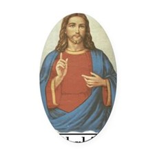 brbJesus Oval Car Magnet