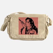 grrr-tile pink Messenger Bag