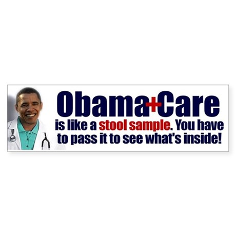 Obamacare Stool Sample Sticker (Bumper)