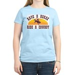 Save a horse ride a cowboy Women's Pink T-Shirt