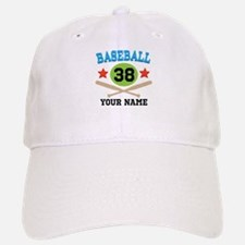 Personalized Hockey Player Number Baseball Baseball Cap