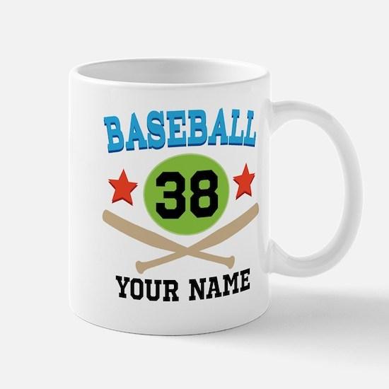 Personalized Hockey Player Number Mug